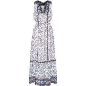 Joie White Atisha Silk Crepe De Chine Maxi Dress